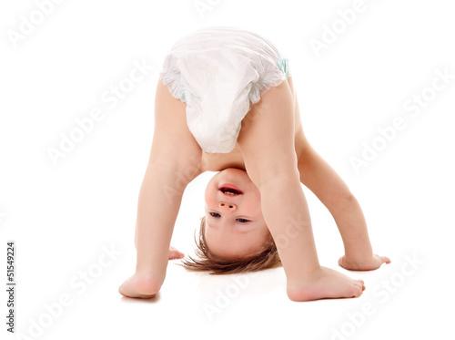 Leinwanddruck Bild funny playing baby