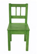 Green children's chair, isolated on a white background
