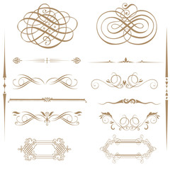 calligraphic element and page decoration