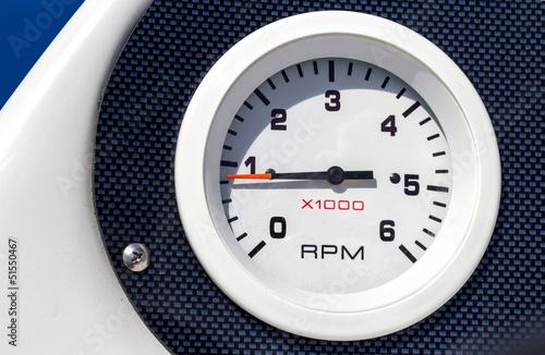 RPM boat gauge