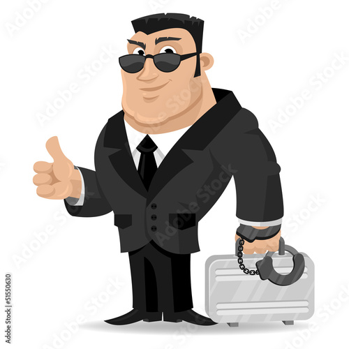 Agent keeps suitcase in handcuffs