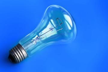 Blue Lightbulb Background