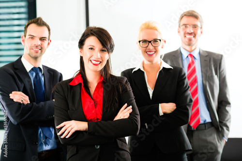 Business - group of businesspeople in office