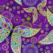 Seamless spring violet pattern