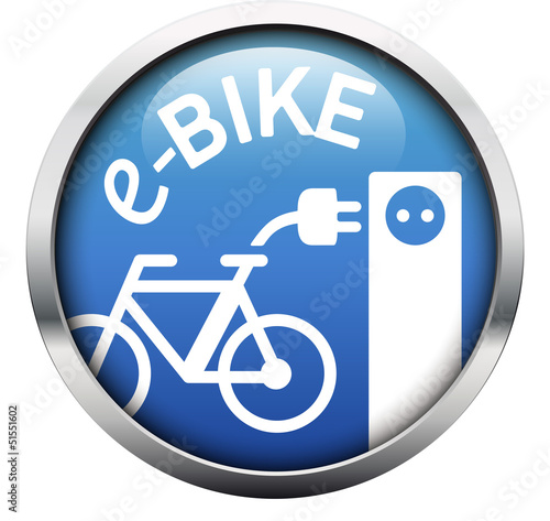 eBike Ladestation Button blau