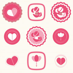 Mother's Day Badges and Labels