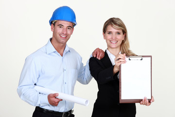 Architect and assistant