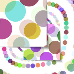 Abstract circles illustration, colorful digital composition.