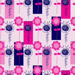 vector seamless abstract  floral background