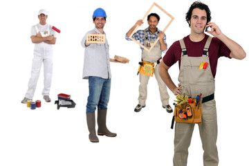 People from various trades