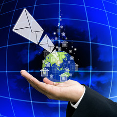 Get the news from network, Globalization concept