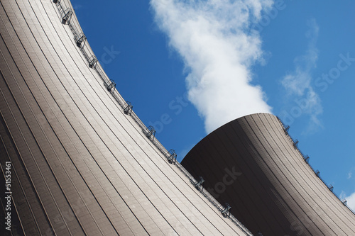 The  Cooling towers of nuclear power plant