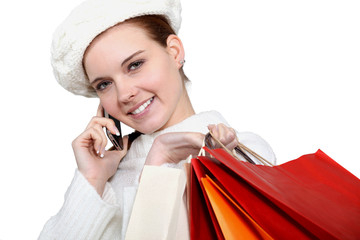 Shopper on the telephone