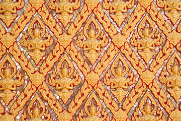 Ancient art pattern of wall in Thai temple