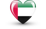 Heart-shaped icon with national flag of the United Arab Emirates