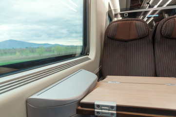 traveling on high-speed train