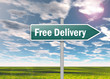 """Signpost """"Free Delivery"""""""