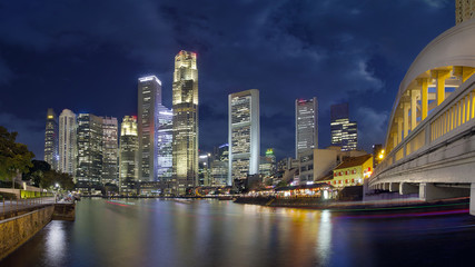 Singapore Skyline from Boat Quay