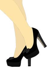 Gambe sensuali con scarpe nere