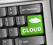 "Keyboard Illustration ""Cloud Computing"""