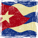 Cuba grunge flag. Grunge effect can be cleaned easily.