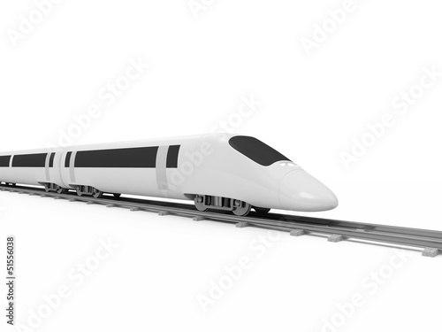 3d Illustration of Modern High-Speed Train isolated on white
