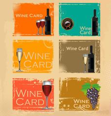Wine card set
