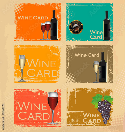 Wine card set
