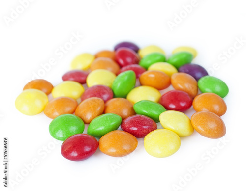 Isolated candies