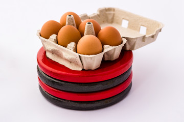 Eggs and Weight Plates