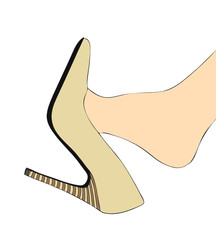 Piede e scarpa col tacco