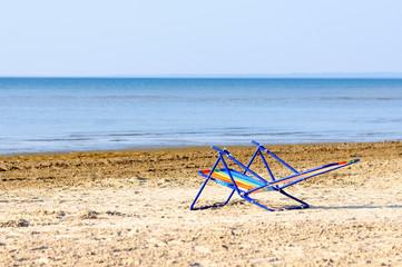 Beach chair, Wasaga beach, Georgian bay, Ontario, Canada