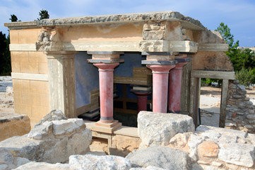 Knossos palace, Crete, Greece