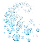 vortex of bubbles blue cyan