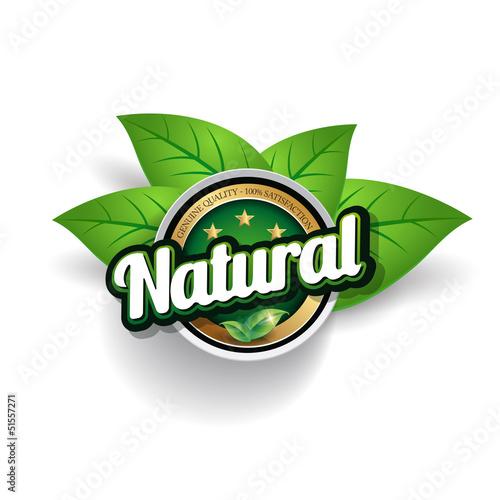 Hundred percent vector natural label
