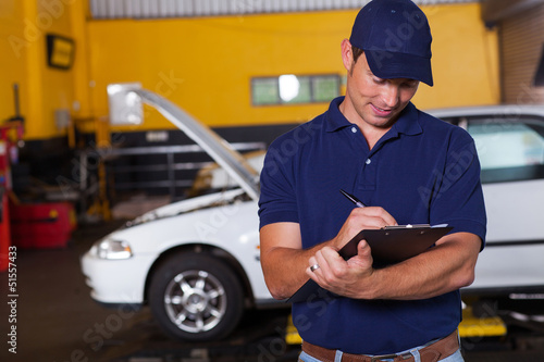 male auto workshop manager