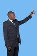 African businessman pointing