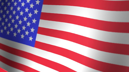 3D Rendered United States Flag Animation