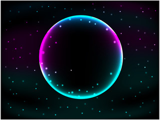 Glowing sphere background
