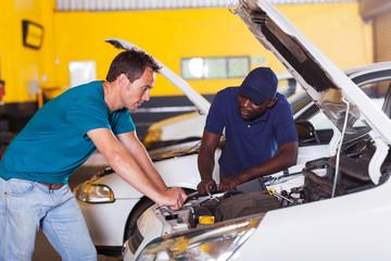 man sending his car for repair