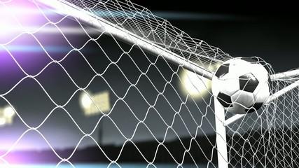 Soccer goal scored.