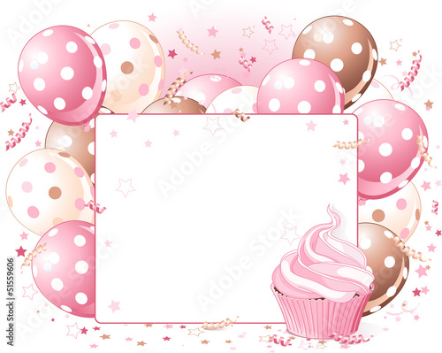 Balloons place card