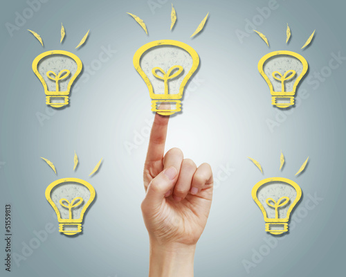Light bulbs with finger