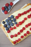Beerenkuchen für 4th of July