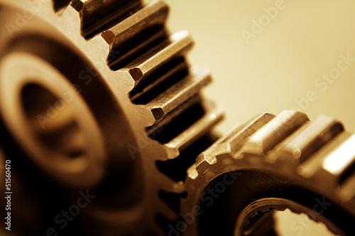 Leinwanddruck Bild Gears