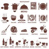 Restaurant menu silhouettes - 51560603