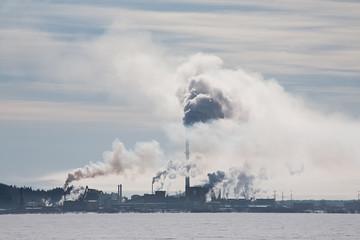 smoke of factory