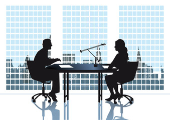 Diskussion im Büro