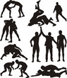 wrestling silhouettes - 51563655