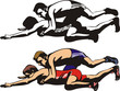 fighting wrestlers